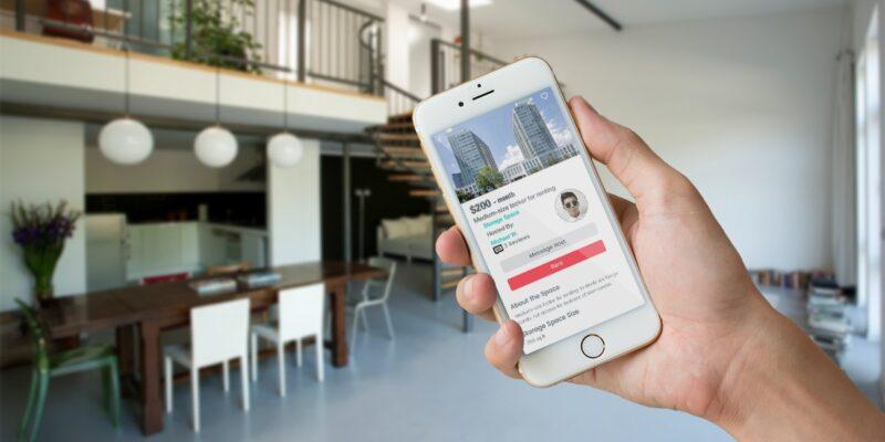 Space Sharing Mobile App Design